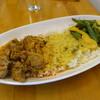 サヒルイチナナ - 料理写真:3種のカリー、ごはん大盛