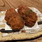 恵比寿魚金 - お通し(クリームコロッケ) 410円