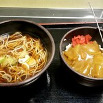 ゆで太郎 - かけそば&カレー:380円