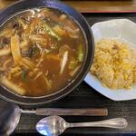 中華料理 唐韻 - 広東麺と半チャーハンセット