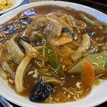 中華料理 唐韻 - あんかけ焼きそばアップ