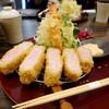 epais - 料理写真:タローポークの特選ロースカツ定食3870円+海老フライ840円