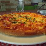 1488757 - スパイシーソーセージのピザ