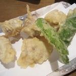 炭焼工房 飯味楽 - ・「鮭白子の天ぷら(\380)」