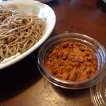 忍野八海名泉そば - 山椒の風味が良い、辛子味噌