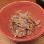 天ぷらすずき - とり軟骨梅肉和え418円