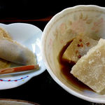 美原 - 蕎麦クレープとそば豆腐の揚げ出し