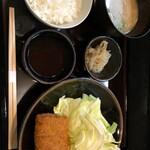 とんかつ山本 - へれかつ定食 1900円