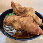 弥生軒 - 料理写真:唐揚げ(2ヶ)そば