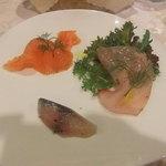 オステリア・デル・ボルゴ - 海峡サーモン カジキ 鯖