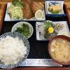 くぼや - 料理写真:アジフライとアジ刺身