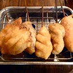 串かつ でんがな - 5本セット(牛・チキン・ウインナー・なす・たまねぎ)¥580
