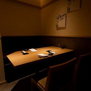 《完全個室席》洗練された個室席でごゆっくりとお過ごしください