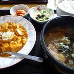 チャイニーズキッチン味彩 - 麻婆豆腐セット800円