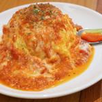 陽だまり食堂 - モッツァレラトマトオムライス