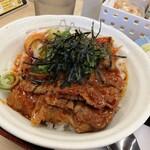 松屋 - 旨辛牛焼ビビン丼 単品だと¥550