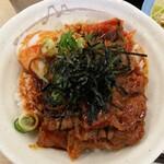 松屋 - 旨辛牛焼ビビン丼 サテライトアングル