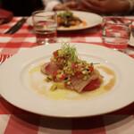 ディーバ - 前菜 カンパチのカルパッチョ