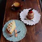やさしいスイーツ工房 ドゥサール - レモンタルト(680円) ブレンドコーヒー(480円) (お連れ様のケーキ名:不明)