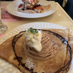 Creperie Alcyon - クレープセット   1180円             マロンモンブラン