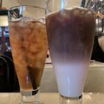 Creperie Alcyon - yuちゃんはアイスのアールグレイ             私はアイスオレをチョイス