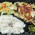 祝家 - 料理写真:肉野菜炒めお弁当(お味噌汁付) 850円
