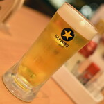 酒や はないち - 生ビール(528円)2021年4月