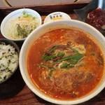 清香園 - ランチ:辛々温麺セット:900円