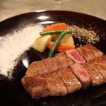 福篭。 - 料理写真:佐賀牛サーロインステーキ