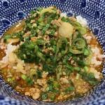 麺屋 八感 - 〆はご飯に辛旨スープを…