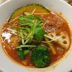 空と大地のトマト麺 Vegie  - チリトマト麺海老味プラス アップ