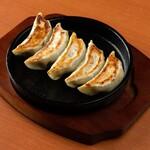 素材屋 - 自家製 鉄板焼き餃子