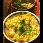車屋 - カツ丼と味噌汁