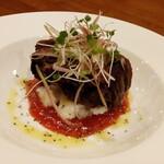 かどや - トマトソースで食べる角煮700円