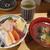 鮨・酒・肴 杉玉  - 料理写真:海鮮10種丼+鯛出汁あさり汁 1,050円
