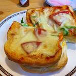コメダ珈琲店 - たっぷりたまごのピザトースト