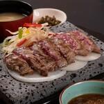 石焼ステーキ 贅  - まずはこれ、税込1000円ステーキランチ