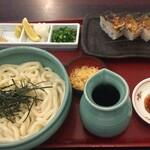 うどん本陣 山田家 - ぶっかけうどんと焼鯖寿司