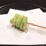天ぷら岡本 - 天ぷら岡本(空豆)