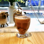 綿茶 - 黒糖プリンミルクティー+あずき−タピオカ