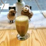 綿茶 - 抹茶スムージー+チーズミルクフォーム+あずき