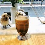 綿茶 - Hotジャスミンミルクティー+あずき