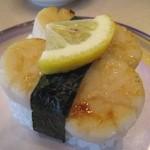 活き魚回転寿司 魚鮮 - ほたての炙り焼き