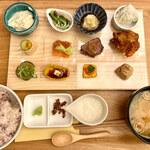 梅田 阪急三番街 リバーカフェ - 至福のひとくち十二彩ご膳 1850円