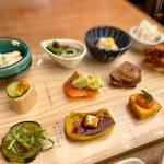 梅田 阪急三番街 リバーカフェ - 一口サイズのおかず