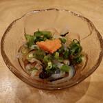漁師寿司 海蓮丸 - 付き出しの 「クラゲのポン酢」