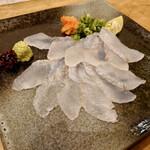 漁師寿司 海蓮丸 - 平目の薄造り