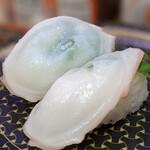 はま寿司 - 生烏賊も塩で。 長崎?の甘みも感じられる優しい塩でしたね。