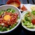 土古里 - 料理写真:ユッケ丼(ご飯少なめにしてもらいましたが、これで少ないんだ?!)