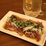 クシヤキ酒場ヤリキ - 2012.8 タン刺(450円)